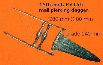 the fabulous katar, armor-punching dagger.